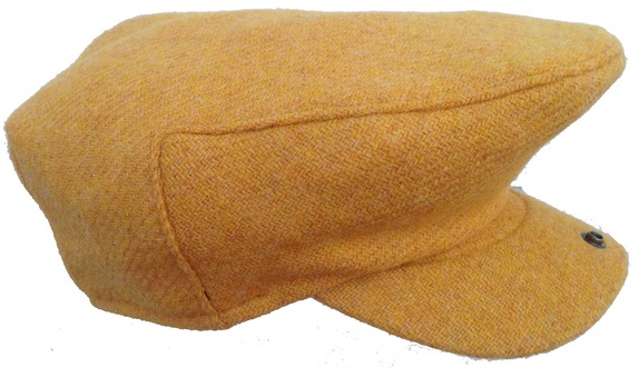 Canary Yellow 100% Scottish Wool Hunting Cap   That Way Hat. New ... ffbcd0123e6