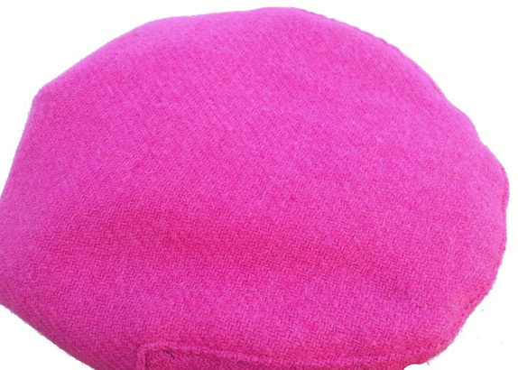 ... Fuchsia Color Tweed Flat Cap- Made from Hand Loomed Scottish Wool ... b590d52f52c