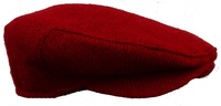 NY Fall: Red Scottish Tweed Scally Cap. Made in USA