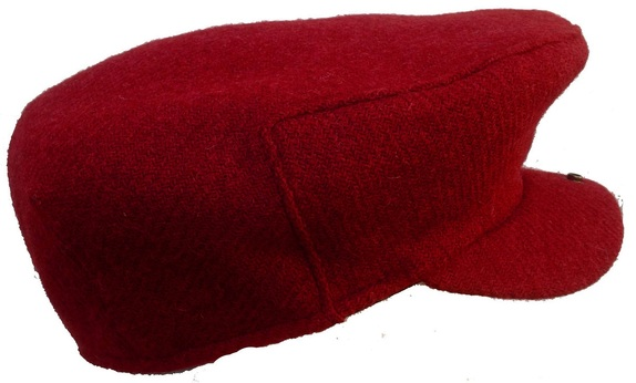 NY Fall  Red Scottish Tweed Scally Cap. Made in USA   That Way Hat ... 04a0926ec59c