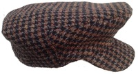 Black, Brown, Grey Ivy Cap- Hounds Tooth Tweed.
