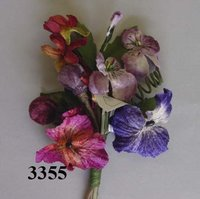 Velvet Grape Pansy with Lilac Custer -- Pin