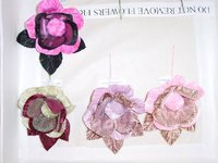Velvet & Organdy Blossom For Millinery