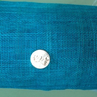 Blue Sinamay Fabric - Stiffened