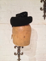 Swing Era Felt Hat - 1940's vintage - dolls hat