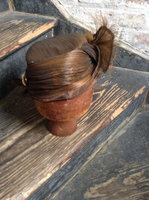 Vintage women 's hat - horsehair cloche early 1920's