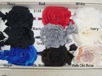 Large Open Silk & Velvet Rose With 4 Buds For Millinery And Weddings