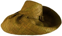 Olive Color Madagascar Hat - with Hidden Pocket