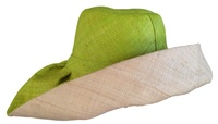 Maitso Fahazavana - Lime Green Out and Natural In Raffia Ladies Madagascar Hat - Reignite