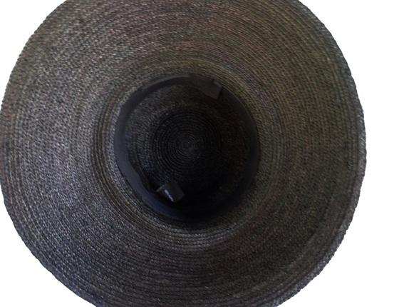Black Raffia Braid Madagascar Hat - Large Size   That Way Hat. New ... 2e1de4d8c05d