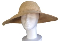 Natural Raffia Braid Madagascar Hat - Large Size