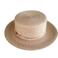 Milan Straw Boater Hat Made in the USA (New York)