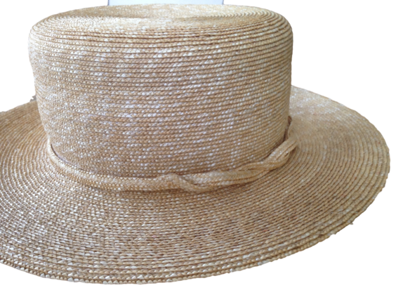 Milan Straw Boater Hat Made in the USA (New York)   That Way Hat ... 19692ef3dd4