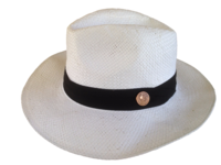 White Toyo Straw Panama Hat -Small to Medium Heads
