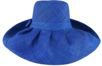 Bright Blue Sea Raffia Sun Hat - Secret Pocket
