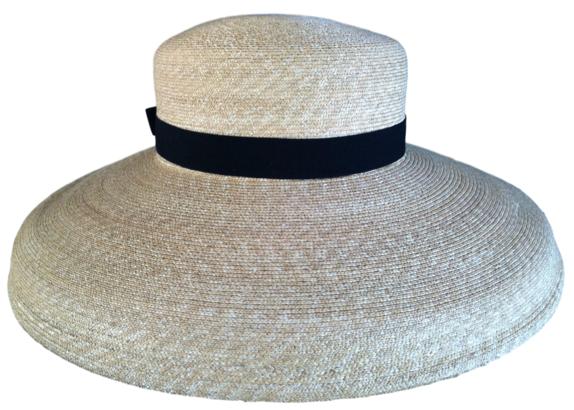 c0687da1 Women's Stylish Fine Milan Straw Hat - Smallish Medium : That Way Hat. New,  Hand Crafted and Custom Millinery - Online