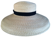 Women's Stylish Fine Milan Straw Hat - Smallish Medium