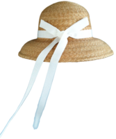 S/M Women's Milan Wheat Straw Hat with White Ribbon