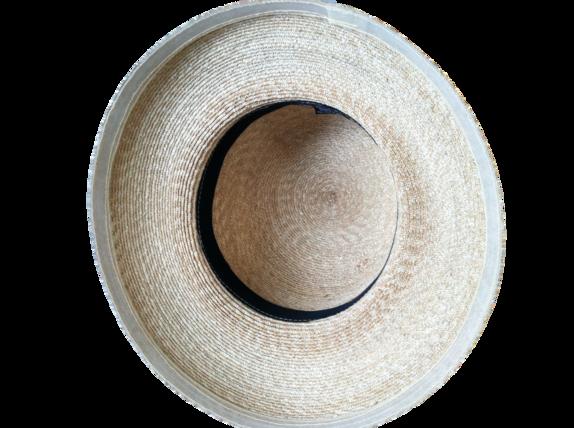 9910a843770 S M Women s Milan Wheat Straw Hat with White Ribbon   That Way Hat ...