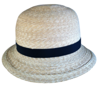 "Women's 21 7/8"" Milan Wheat Straw Bowler Hat"