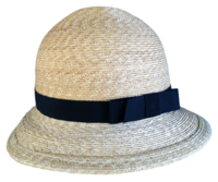 "XXS Women's 20"" Milan Wheat Straw Bowler Hat"