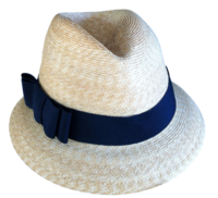Milan Straw Fedora - Black Bow Band
