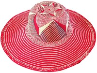 Red Starfish Toquilla Straw Peruvian Pamana for Women