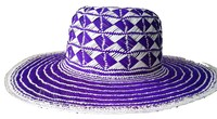 Blue Diamonds Toquilla Straw Peruvian Pamana for Women