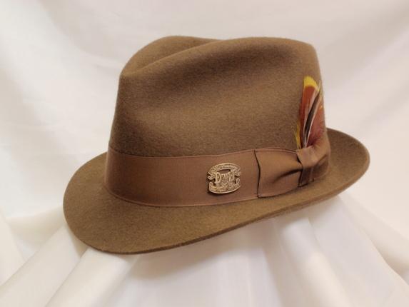 Size 6 7 8 Pecan Fedora   That Way Hat. New 53adf009071