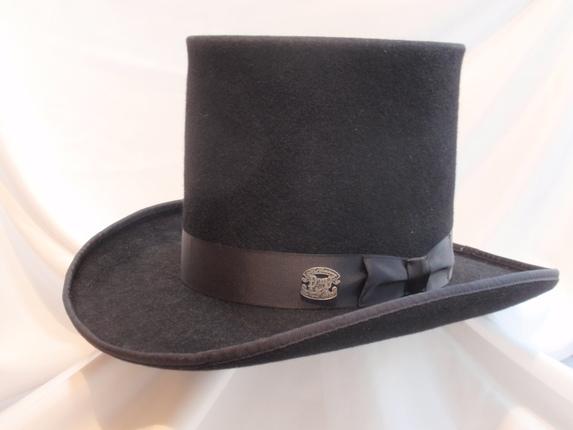 Size 7 5 8 Black Tall Top Hat   That Way Hat. New 090985fedd6