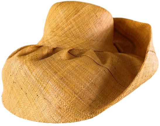 0725560f38bad Golden Yellow Saffron Solid 7 Inch Brim Raffia Madagascar Women s Sun Hat    That Way Hat. New