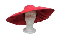 Red Raffia Sun Hat - Cherry Topper