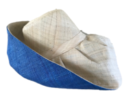 Natural Out Blue In Madagascar Raffia Sun Hat