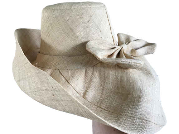 cd1ab39624aae Natural with Bow Madagascar Raffia Sun Hat : That Way Hat. New, Hand  Crafted and Custom Millinery - Online