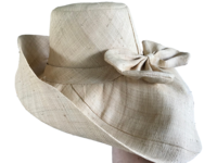Natural with Bow Madagascar Raffia Sun Hat
