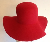 Red Felt Hat Body