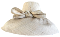 Tied Bow Madagascar Raffia Sun Hat