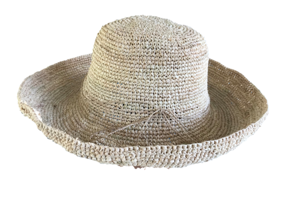 88d9f51a88c Straw Wide Crocheted Raffia Straw Foldable Hat   That Way Hat. New ...