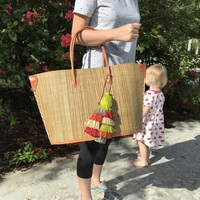 Beige Sisal Beach Bag - Large Size