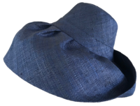 Navy Blue Madagascar Raffia Sun Hat